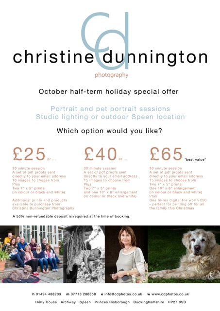 Christine Dunnington Photography SPECIAL OFFER
